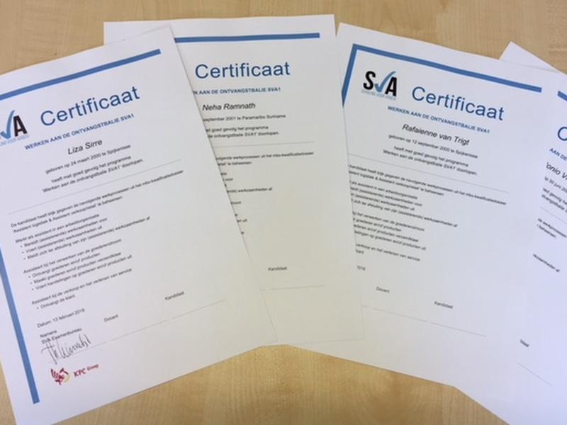 De eerste certificaten zijn binnen!