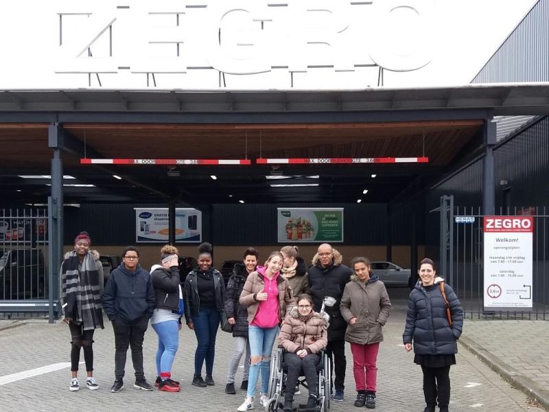 Vakgroep Horeca Accent Hoogvliet op bezoek bij groothandel ZEGRO