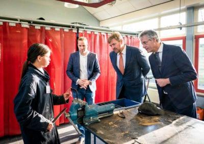 Koning Willem-Alexander en minister Slob 1