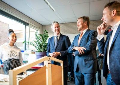 Koning Willem-Alexander en minister Slob 2