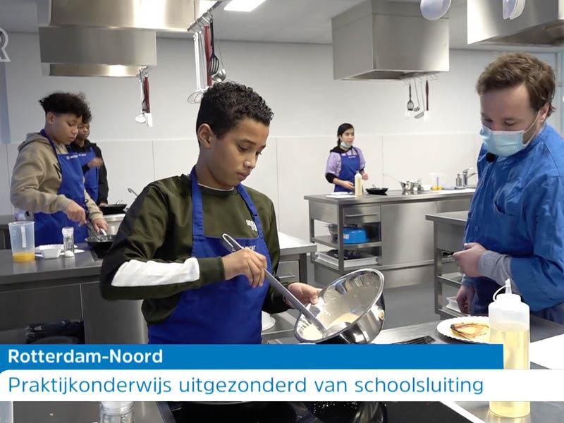TV Rijnmond op bezoek vanwege de gedeeltelijke openstelling